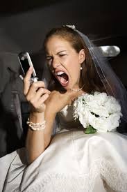 yelling bride